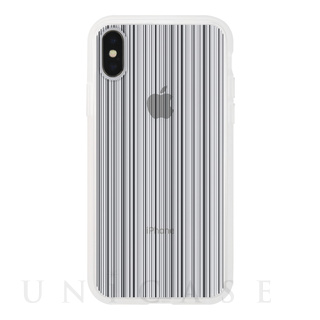 【iPhoneX ケース】MONOCHROME CASE for iPhoneX (Thin Stripe Black)