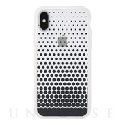 【iPhoneXS/X ケース】MONOCHROME CASE for iPhoneXS/X (Gradation Dot Black)