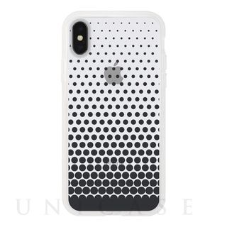 【iPhoneX ケース】MONOCHROME CASE for iPhoneX (Gradation Dot Black)