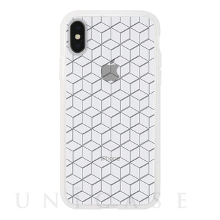 【iPhoneX ケース】MONOCHROME CASE for iPhoneX (Hexagon Line Black)