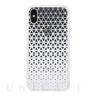 【iPhoneX ケース】MONOCHROME CASE for iPhoneX (Triangle Pattern Black)