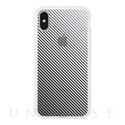 【iPhoneXS/X ケース】MONOCHROME CASE for iPhoneXS/X (Slash Stripe Black)