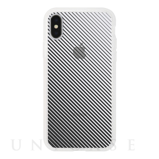 【iPhoneX ケース】MONOCHROME CASE for iPhoneX (Slash Stripe Black)