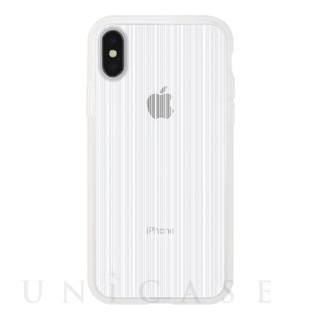 【iPhoneX ケース】MONOCHROME CASE for iPhoneX (Thin Stripe White)