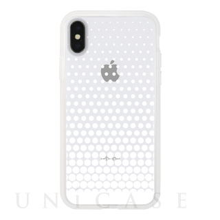 【iPhoneX ケース】MONOCHROME CASE for iPhoneX (Gradation Dot White)