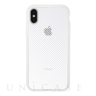 【iPhoneX ケース】MONOCHROME CASE for iPhoneX (Slash Stripe White)