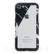 【iPhone8/7 ケース】Case Study Clear Case (Black Marble Slant)