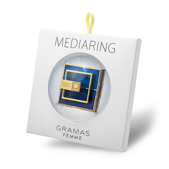 """MEDIARING"" for Smartphone Square (Blue × Dark Blue)サブ画像"