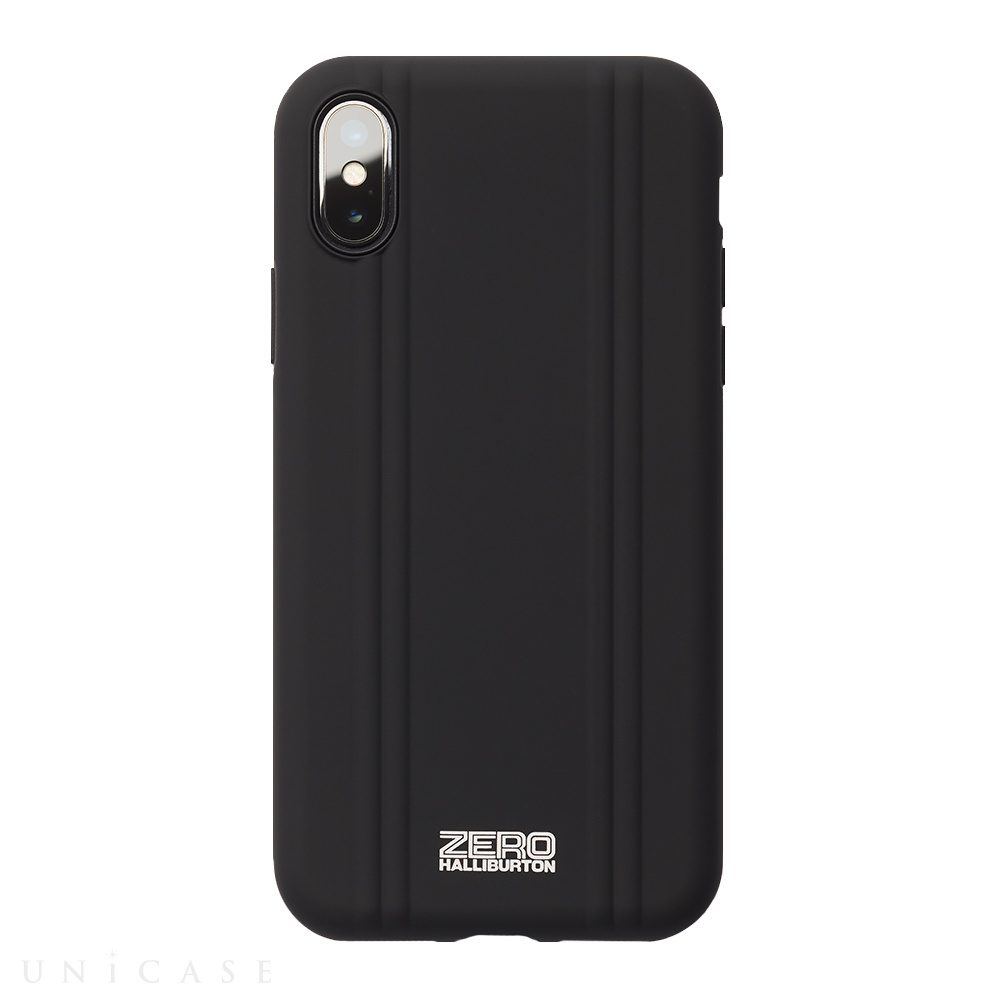 【iPhoneX ケース】ZERO HALLIBURTON Hybrid Shockproof case for iPhone X(MATTE BLACK)