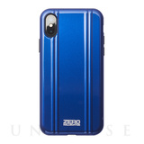 【iPhoneX ケース】ZERO HALLIBURTON Hybrid Shockproof case for iPhone X(BLUE)