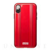 【iPhoneX ケース】ZERO HALLIBURTON Hybrid Shockproof case for iPhone X(RED)