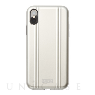 【iPhoneX ケース】ZERO HALLIBURTON Shockproof case for iPhone X(SILVER)