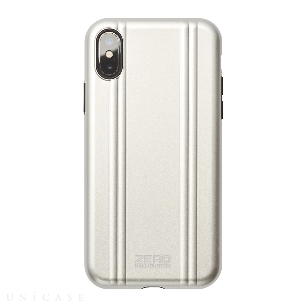 【iPhoneX ケース】ZERO HALLIBURTON Hybrid Shockproof case for iPhone X(SILVER)