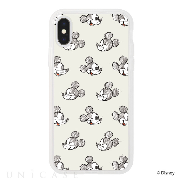 【iPhoneX ケース】Disney Character / iPhone CASE for iPhoneX (Pattern Ivory)