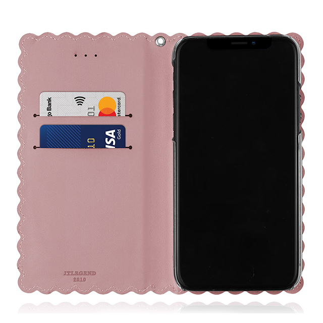 【iPhoneXS/X ケース】Biscuit Cowhide Leather Flip case (Pink)サブ画像