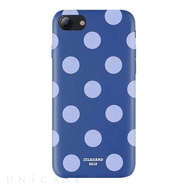 【iPhone8/7 ケース】Polka PU Leather Back Case (Blue Jazz)