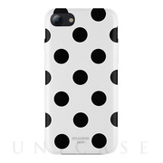 【iPhone8/7 ケース】Polka PU Leather Back Case (White Polka)