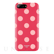 【iPhone8 Plus/7 Plus ケース】Polka PU Leather Back Case (Berry Blossom)