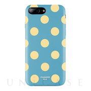 【iPhone8 Plus/7 Plus ケース】Polka PU Leather Back Case (Banana Lagoon)