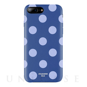 【iPhone8 Plus/7 Plus ケース】Polka PU Leather Back Case (Blue Jazz)
