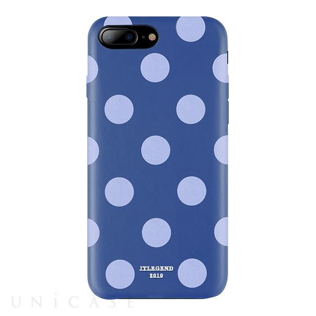【iPhone8 Plus/7 Plus ケース】Polka PU Leather Back Case (Blue Jazz)