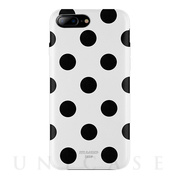 【iPhone8 Plus/7 Plus ケース】Polka PU Leather Back Case (White Polka)