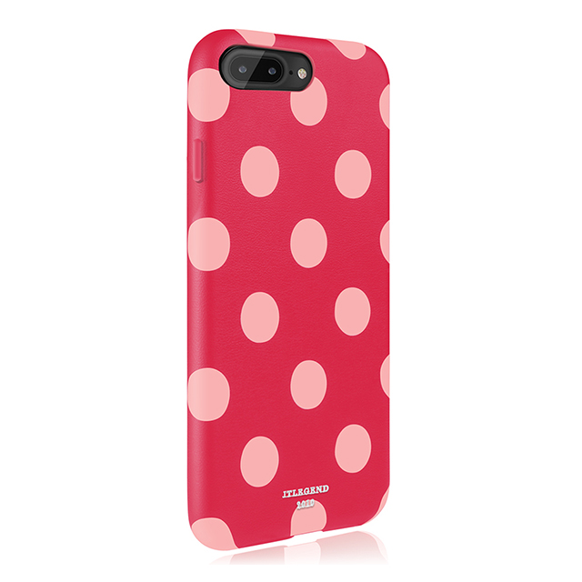 【iPhone8 Plus/7 Plus ケース】Polka PU Leather Back Case (Berry Blossom)サブ画像