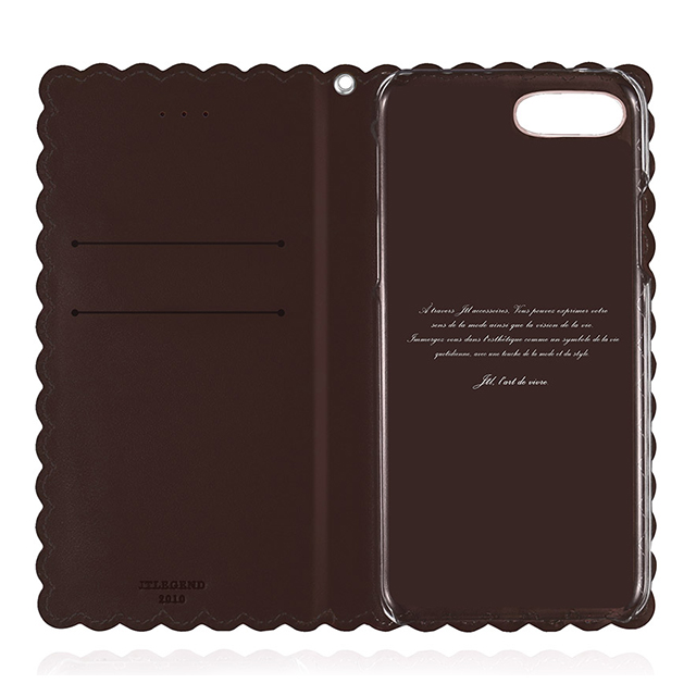 【iPhone8 Plus/7 Plus ケース】Biscuit Cowhide Leather Flip case (Cocoa)サブ画像