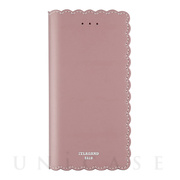 【iPhone8 Plus/7 Plus ケース】Biscuit Cowhide Leather Flip case (Pink)