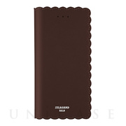 【iPhone8 Plus/7 Plus ケース】Biscuit Cowhide Leather Flip case (Cocoa)