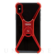 【iPhoneX ケース】X Ring (METAL RED)