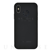 【iPhoneX ケース】iPhoneX case logo (Black×Black)