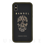 【iPhoneX ケース】iPhoneX case skull (Black×Gold)