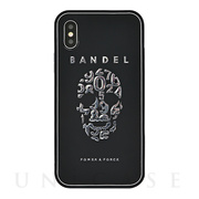 【iPhoneX ケース】iPhoneX case skull (Black×Silver)