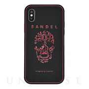 【iPhoneX ケース】iPhoneX case skull (Black×Pink)