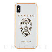 【iPhoneX ケース】iPhoneX case skull (White×Gold)