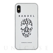【iPhoneX ケース】iPhoneX case skull (White×Silver)