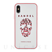 【iPhoneX ケース】iPhoneX case skull (White×Pink)