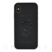 【iPhoneX ケース】iPhoneX case skull (Black×Black)
