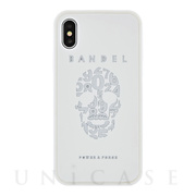 【iPhoneX ケース】iPhoneX case skull (White×White)