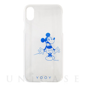 【iPhoneX ケース】DISNEY/REACTION/MICKEY iPhone CASE (BL)