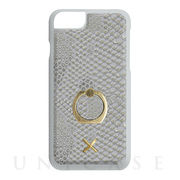 【iPhone8/7 ケース】Ring Case (White Gold Crocodile)