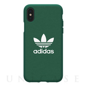 【iPhoneXS/X ケース】adicolor Moulded Case (Green)