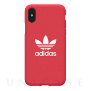 【iPhoneX ケース】adicolor Moulded Case (Red)