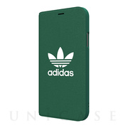 【iPhoneXS/X ケース】adicolor Booklet Case (Green)