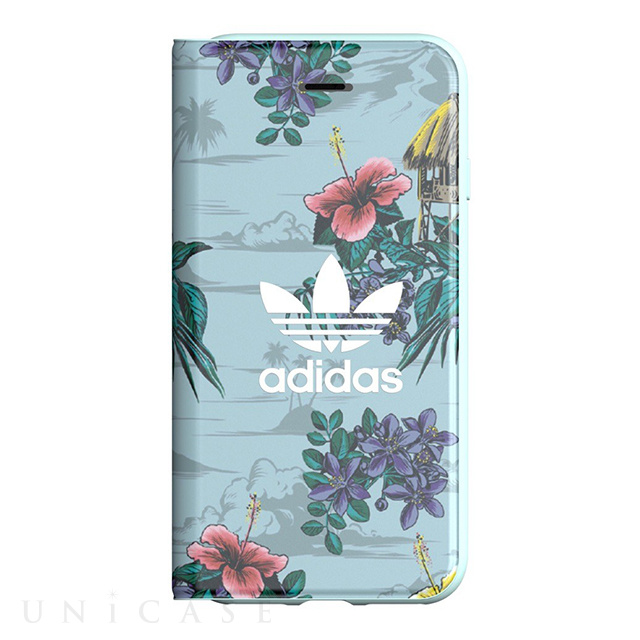 【iPhone8/7/6s/6 ケース】Booklet Case (Floral/Ash Grey)
