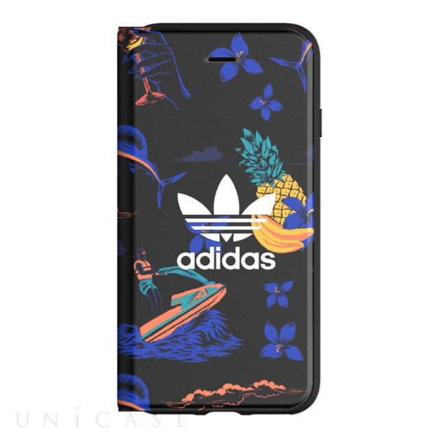 【iPhone8 Plus/7 Plus ケース】Booklet Case (Beach/Black)