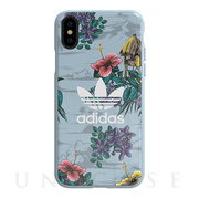 【iPhoneXS/X ケース】Snap case (Floral/Ash Grey)