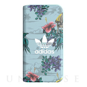 【iPhoneXS/X ケース】Booklet Case (Floral/Ash Grey)