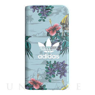 【iPhoneX ケース】Booklet Case (Floral/Ash Grey)